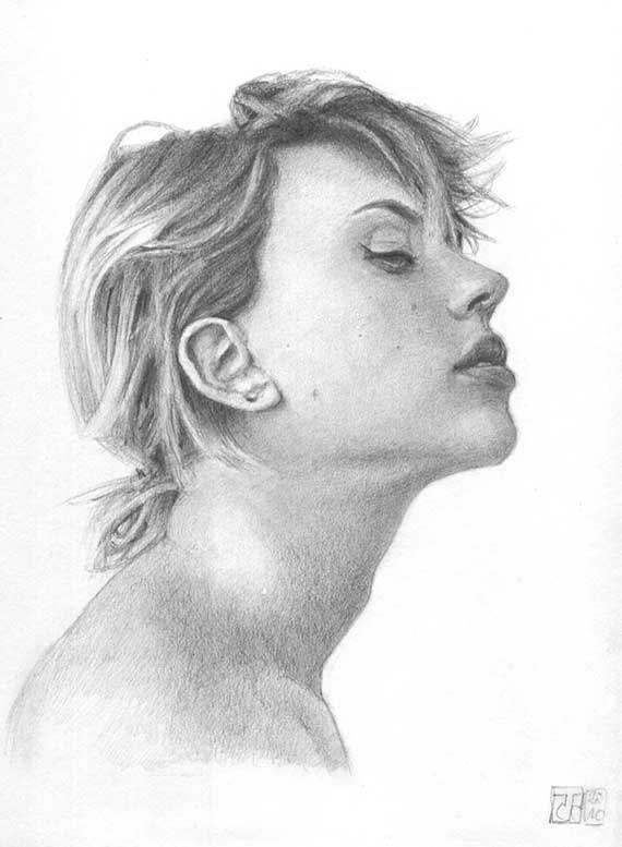 Retrato Scarlett Johansson