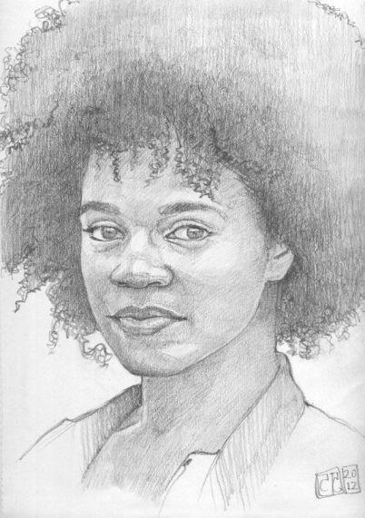 Retrato mujer al grafito
