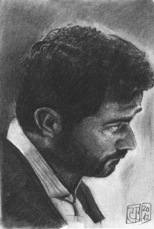 Dibujo-Retrato-hombre-carboncillo