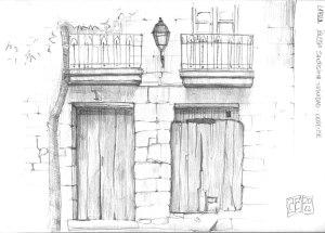 Dibujo-puertas-grafito