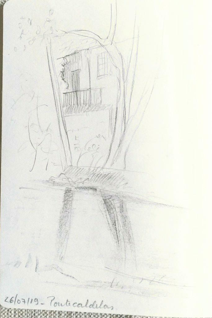 Dibujo paseo fluvial
