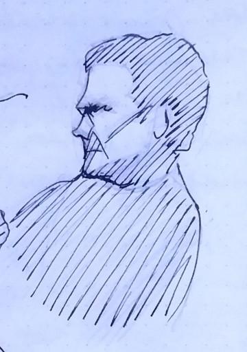 Sketch tinta hombre