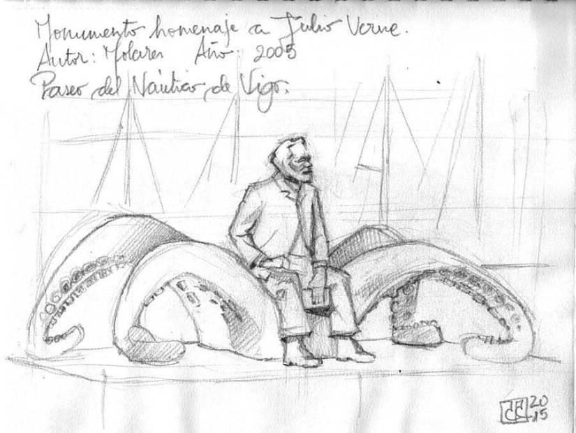 Monumento a Julio Verne Vigo