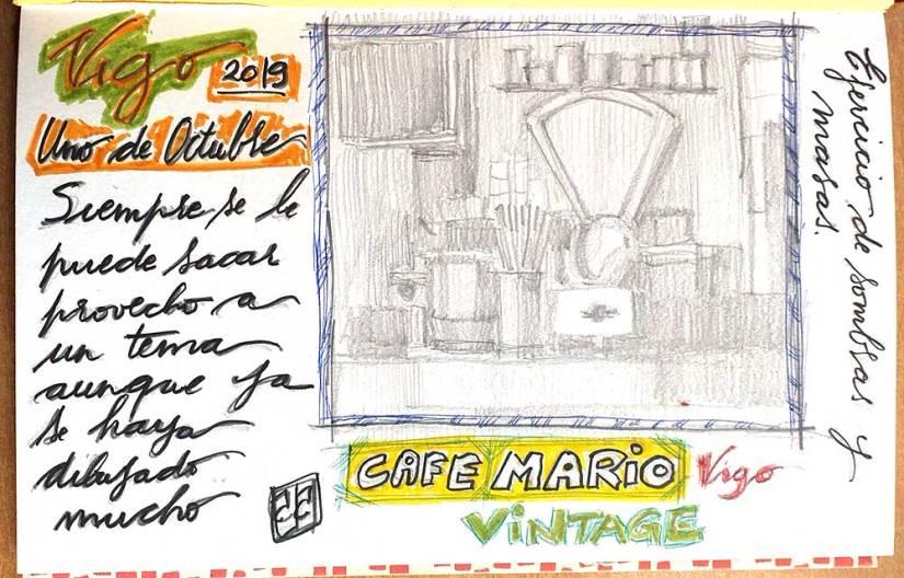 Dibujo balanza cafe Mario
