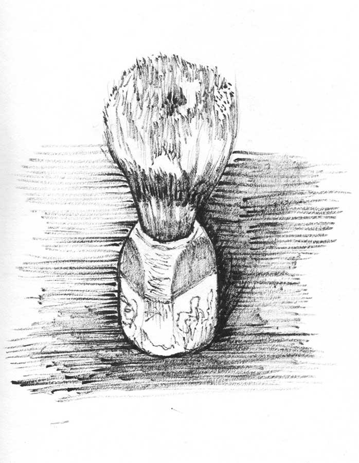 Dibujo brocha a tinta