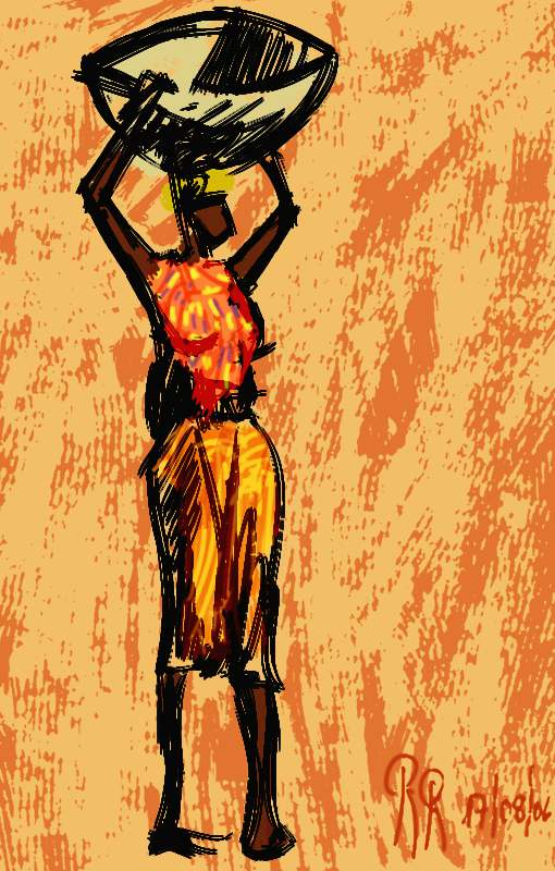 Mujer africana digital
