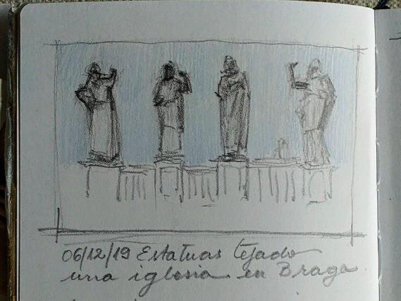 Estatuas grafito color