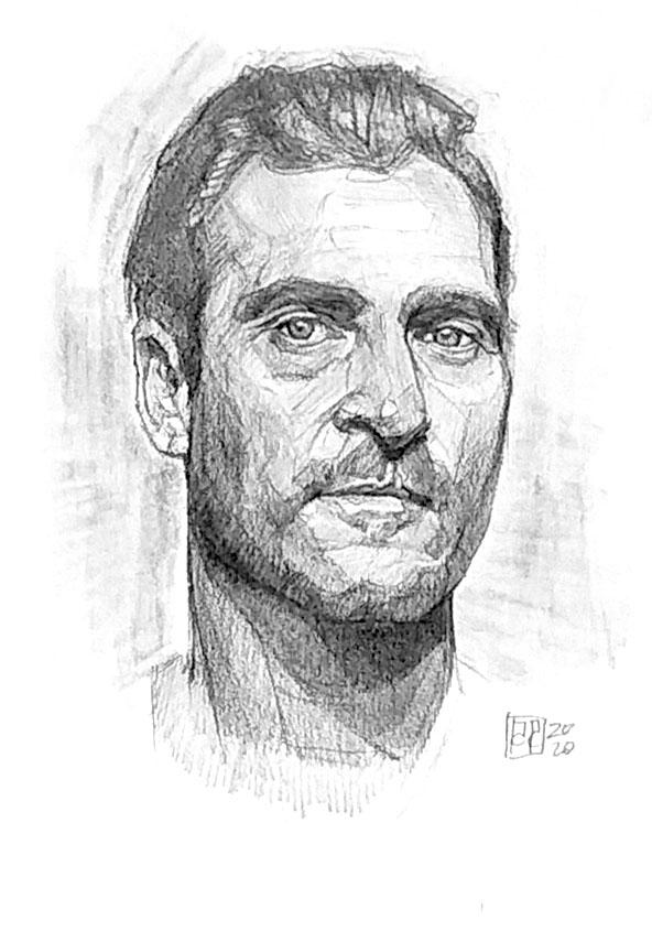 Retrato Joaquin Phoenix