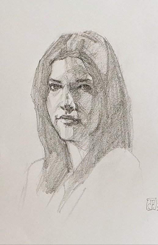Retrato chica grafito