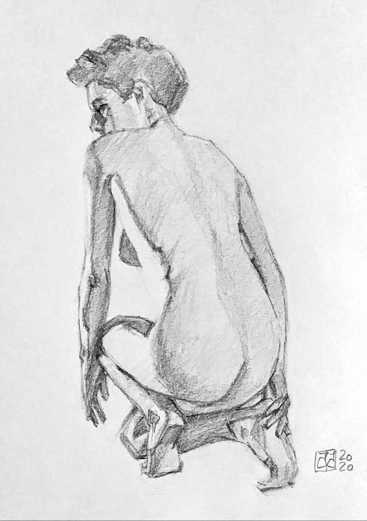 Dibujo grafito desnudo