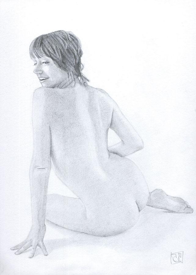 Dibujo desnudo grafito 02