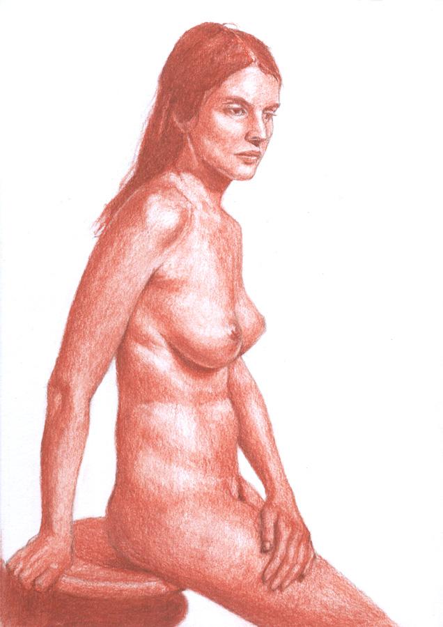 Dibujo desnudo sanguina 03
