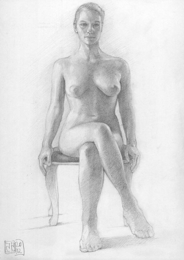 Dibujo desnudo grafito 04