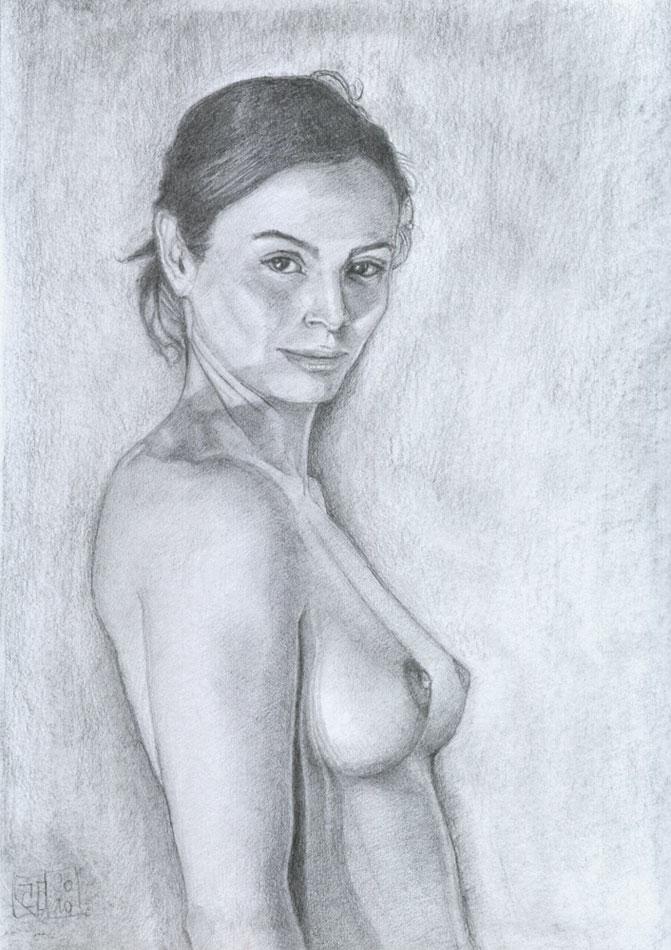 Dibujo desnudo grafito 05