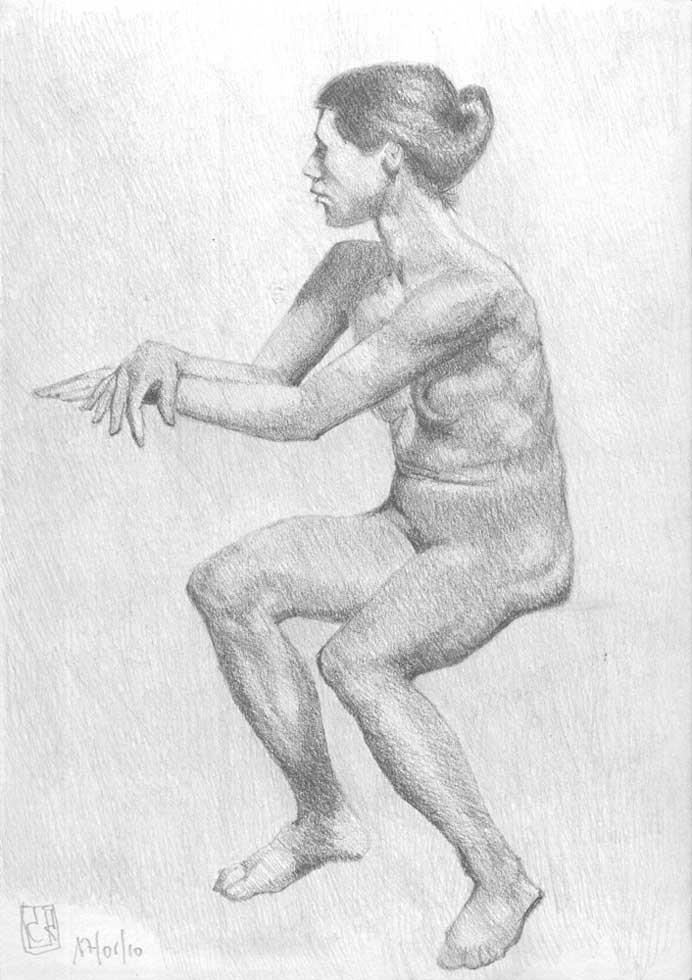 Dibujo desnudo grafito 08