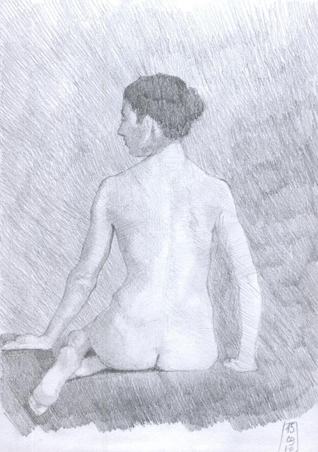 Dibujo desnudo grafito 09