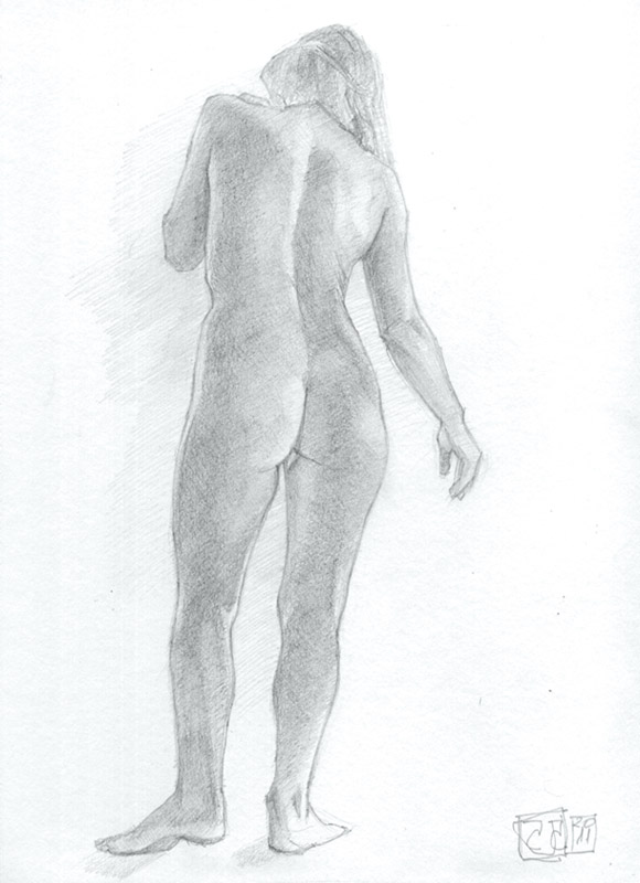 Dibujo desnudo grafito 10