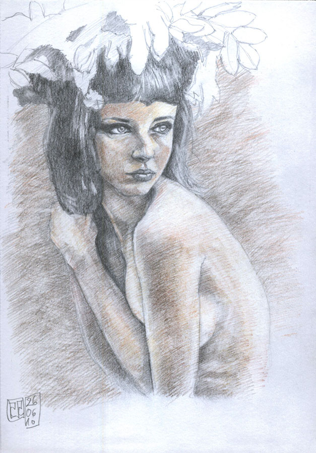 Dibujo desnudo grafito 11