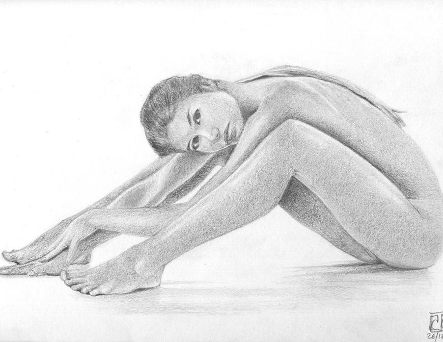 Dibujo desnudo grafito 12
