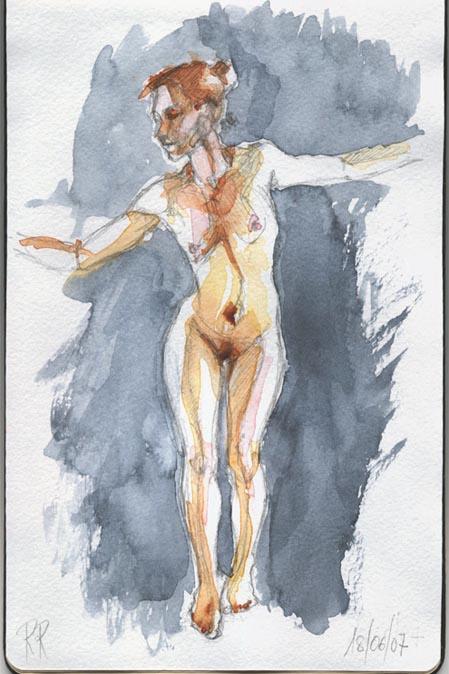 dibujo desnudo acuarela 01