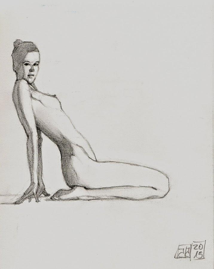 Dibujo desnudo grafito 14