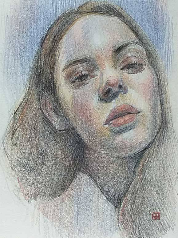 Retrato mujer CMYK