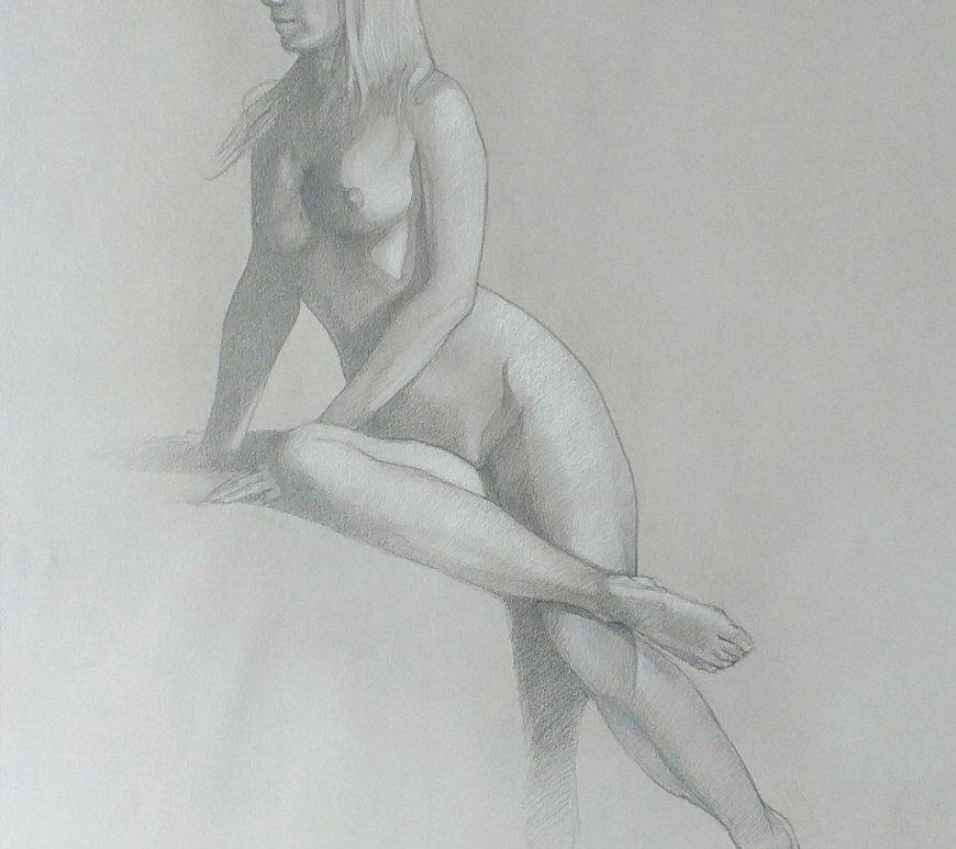 Dibujo desnudo mujer